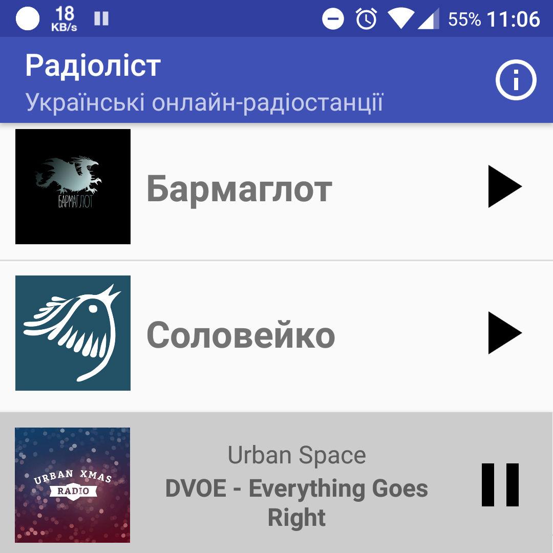 Зробили додаток для Радіоліста на Андроїд